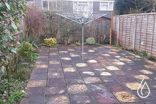 Patio cleaning in Caterham - Before a clean