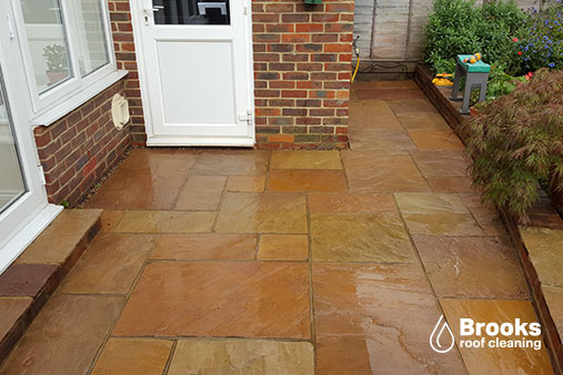 Patio cleaning in Caterham - After a clean