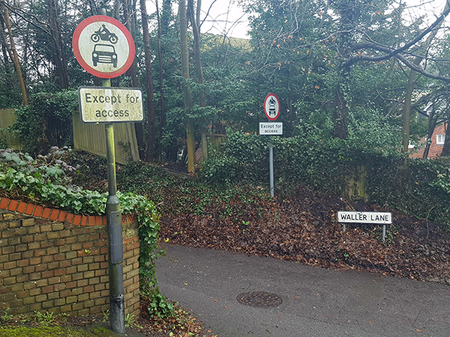 Road sign cleaning in Caterham - Before a clean